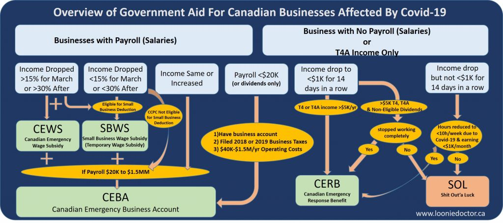 Details Of The Canada Emergency Business Account Ceba Loan Physician Finance Canada